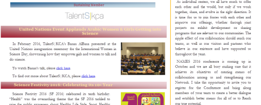 Membership & participation at the United Nations features in NAMES newsletter